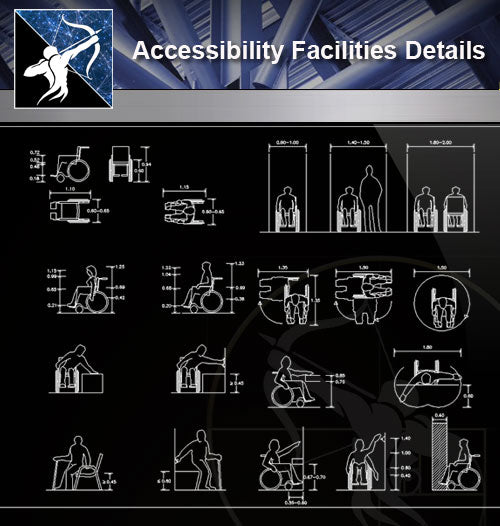 【Free Accessibility Facilities Details】Accessibility Facilities CAD Details 3