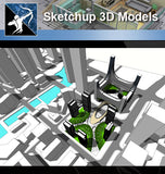 ★Sketchup 3D Models-Skyscraper Sketchup Models - Architecture Autocad Blocks,CAD Details,CAD Drawings,3D Models,PSD,Vector,Sketchup Download