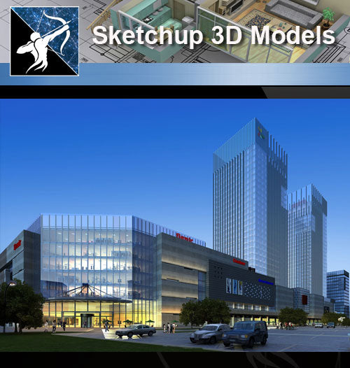 ★★Sketchup 3D Models--Architecture Concept Sketchup Models 11 - Architecture Autocad Blocks,CAD Details,CAD Drawings,3D Models,PSD,Vector,Sketchup Download