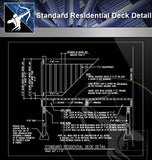 【Free Architecture Details】Standard Residential Deck Detail - Architecture Autocad Blocks,CAD Details,CAD Drawings,3D Models,PSD,Vector,Sketchup Download