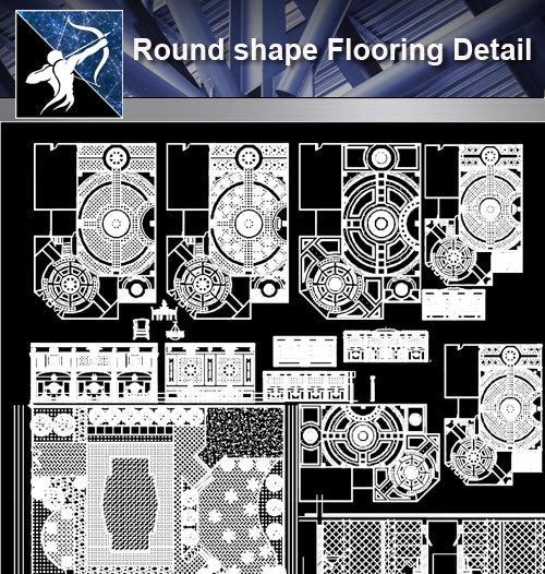 【Architecture Details】Round shape Flooring Detail - Architecture Autocad Blocks,CAD Details,CAD Drawings,3D Models,PSD,Vector,Sketchup Download