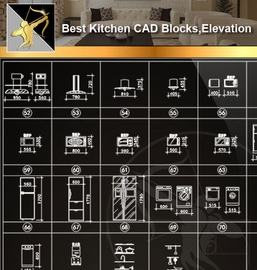 ★Interior Design CAD Blocks -Kitchen CAD Blocks,Kitchen Elevation,Kitchen Design