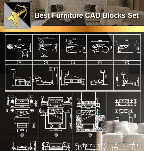 ★Interior Design CAD Blocks -Furniture CAD blocks set - Architecture Autocad Blocks,CAD Details,CAD Drawings,3D Models,PSD,Vector,Sketchup Download