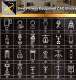★Interior Design CAD Blocks -Fitness Equipment,Treadmills,Exercise Bikes,Home Gyms,Exercise Machine Accessories
