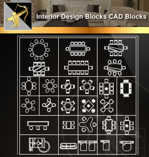 ★Interior Design CAD Blocks -Sofa,Table,Chair,Restroom,Transportation,Tree