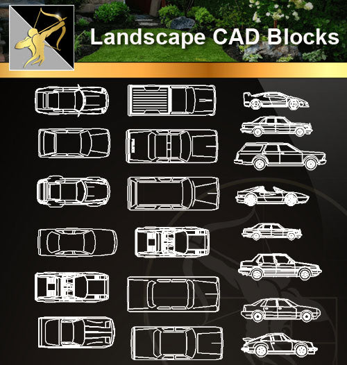 ★Landscape CAD Blocks -Transportations ,Vehicles, Lorries ,Car Blocks CAD Blocks