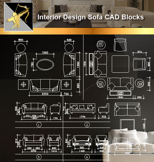 ★Interior Design CAD Blocks -Sofa CAD Blocks,Elevation,Design - Architecture Autocad Blocks,CAD Details,CAD Drawings,3D Models,PSD,Vector,Sketchup Download