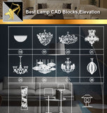 ★Interior Design CAD Blocks -Lamp CAD Blocks,Lights,Lamp Design - Architecture Autocad Blocks,CAD Details,CAD Drawings,3D Models,PSD,Vector,Sketchup Download