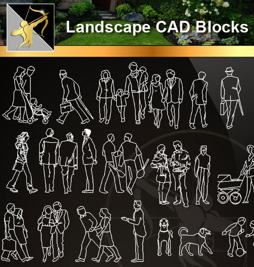 ★Landscape CAD Blocks -People Plan,elevation ,Handicap facilities CAD Blocks