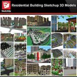 💎【Sketchup Architecture 3D Projects】20 Types of Residential Building Sketchup 3D Models V6 - Architecture Autocad Blocks,CAD Details,CAD Drawings,3D Models,PSD,Vector,Sketchup Download