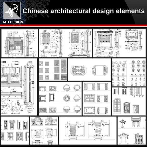 ★【Chinese Architecture Design CAD elements V5】All kinds of Chinese Architectural CAD Drawings Bundle