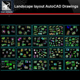 ★【Landscape layout Autocad Drawings Collections】All kinds of Landscape CAD Drawings - Architecture Autocad Blocks,CAD Details,CAD Drawings,3D Models,PSD,Vector,Sketchup Download