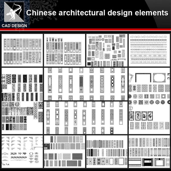★【Chinese Architecture Design CAD elements V3】All kinds of Chinese Architectural CAD Drawings Bundle