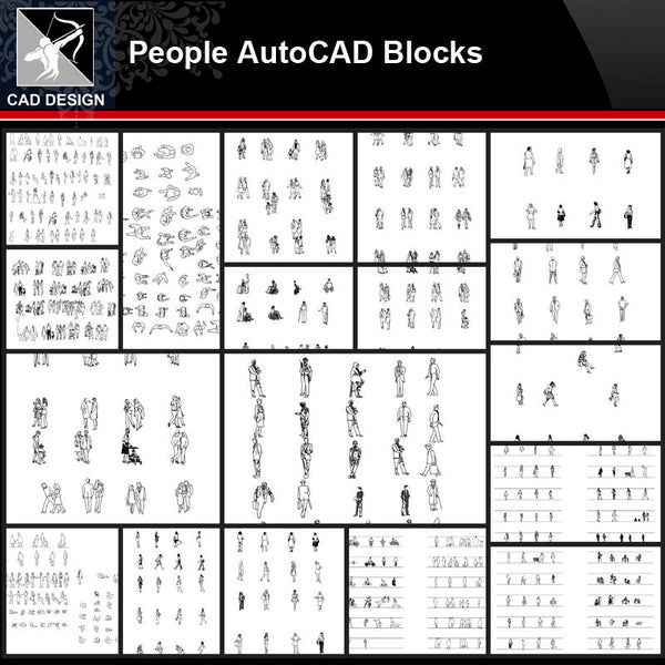★【People Autocad Blocks Collections】All kinds of People CAD Blocks - Architecture Autocad Blocks,CAD Details,CAD Drawings,3D Models,PSD,Vector,Sketchup Download
