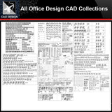 ★【Office Design Gallery Autocad Blocks,Drawings】All Office layout elements Bundle