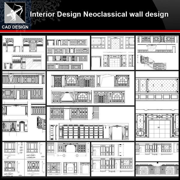 ★【Interior design Neoclassical wall design V1】