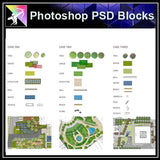 【Photoshop PSD Landscape Blocks】Landscape Plan,Elevation Blocks(Recommanded!!)