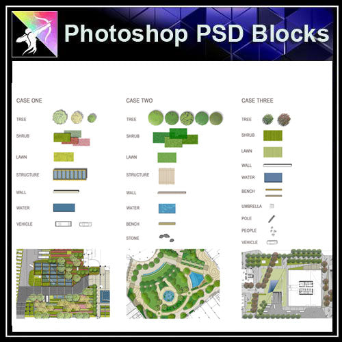 【Photoshop PSD Landscape Blocks】Landscape Plan,Elevation Blocks(Recommanded!!) - Architecture Autocad Blocks,CAD Details,CAD Drawings,3D Models,PSD,Vector,Sketchup Download