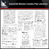 ★【Autocad Blocks Combo Pak Libraries V.1】All kinds of CAD blocks Bundle