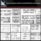★【Various Kitchen Cabinet Autocad Blocks & elevation V.2】All kinds of Kitchen Cabinet CAD drawings Bundle - Architecture Autocad Blocks,CAD Details,CAD Drawings,3D Models,PSD,Vector,Sketchup Download