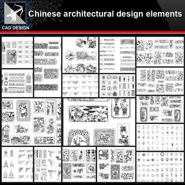 ★【Full Chinese Architecture Design CAD elements】All kinds of Chinese Architectural CAD Drawings Bundle - Architecture Autocad Blocks,CAD Details,CAD Drawings,3D Models,PSD,Vector,Sketchup Download