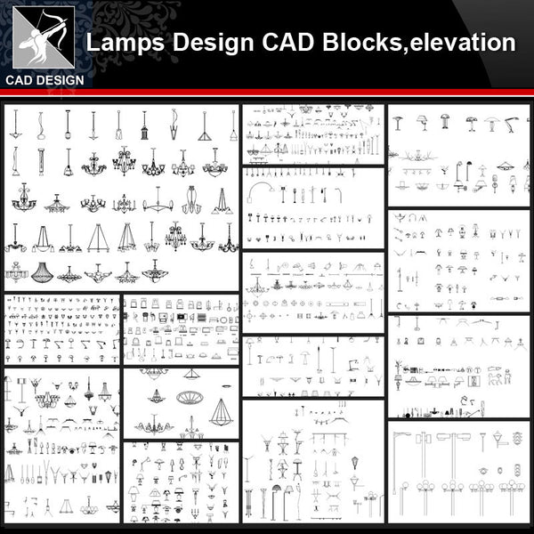 ★【Lamps Design Autocad Blocks,elevation Collections】All kinds of Lamps CAD Blocks - Architecture Autocad Blocks,CAD Details,CAD Drawings,3D Models,PSD,Vector,Sketchup Download
