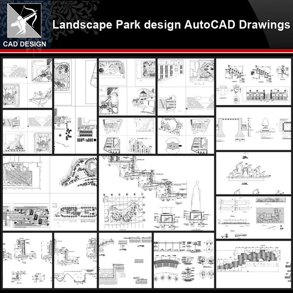 ★【Landscape Park Design Details Autocad Drawings Collections】All kinds of Landscape Details CAD Drawings