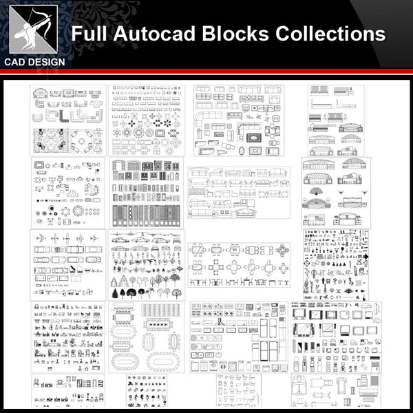 ★【Full Autocad Blocks Collections】All kinds of CAD Blocks Bundle - Architecture Autocad Blocks,CAD Details,CAD Drawings,3D Models,PSD,Vector,Sketchup Download