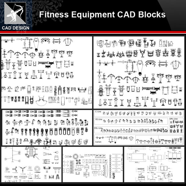 ★【Fitness Equipment Autocad Blocks】All kinds of Fitness Equipment CAD Blocks Bundle - Architecture Autocad Blocks,CAD Details,CAD Drawings,3D Models,PSD,Vector,Sketchup Download