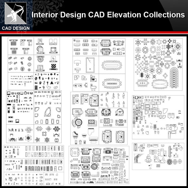 ★【Interior Design Autocad Elevation Collections V.2】All kinds of CAD Elevation Bundle