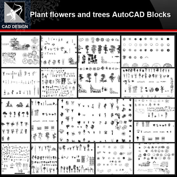 ★【Plants,flowers,tree Autocad Blocks Collections】All kinds of Plants CAD Blocks - Architecture Autocad Blocks,CAD Details,CAD Drawings,3D Models,PSD,Vector,Sketchup Download