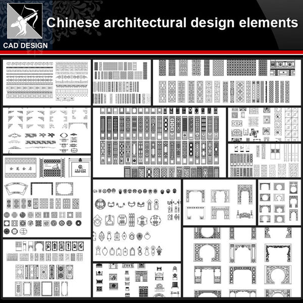 ★【Chinese Architecture Design CAD elements V2】All kinds of Chinese Architectural CAD Drawings Bundle - Architecture Autocad Blocks,CAD Details,CAD Drawings,3D Models,PSD,Vector,Sketchup Download