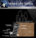 【Slope Details】 - Architecture Autocad Blocks,CAD Details,CAD Drawings,3D Models,PSD,Vector,Sketchup Download