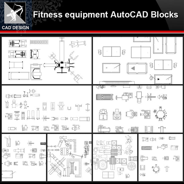★【Fitness equipment Autocad Blocks Collections】All kinds of Fitness equipment CAD Blocks - Architecture Autocad Blocks,CAD Details,CAD Drawings,3D Models,PSD,Vector,Sketchup Download