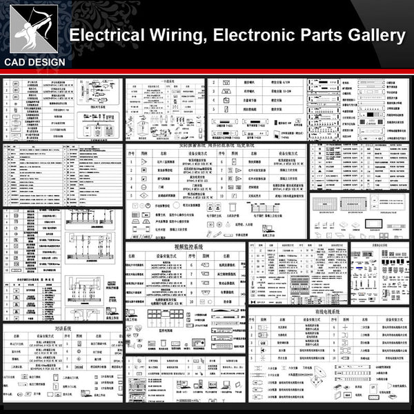 ★【Electrical Wiring,Electronic Parts Gallery】All kinds of Electronic Parts CAD Blocks Bundle - Architecture Autocad Blocks,CAD Details,CAD Drawings,3D Models,PSD,Vector,Sketchup Download