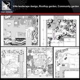 ★【Villa Landscape design,Rooftop garden,Community garden CAD Drawings Bundle V.2】All kinds of Landscape design CAD Drawings - Architecture Autocad Blocks,CAD Details,CAD Drawings,3D Models,PSD,Vector,Sketchup Download