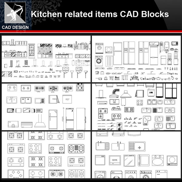 ☆【Kitchen Autocad Drawings,Blocks,Details】
