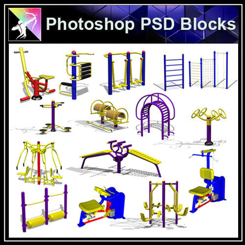 【Photoshop PSD Blocks】Facilities for children PSD Blocks 1 - Architecture Autocad Blocks,CAD Details,CAD Drawings,3D Models,PSD,Vector,Sketchup Download