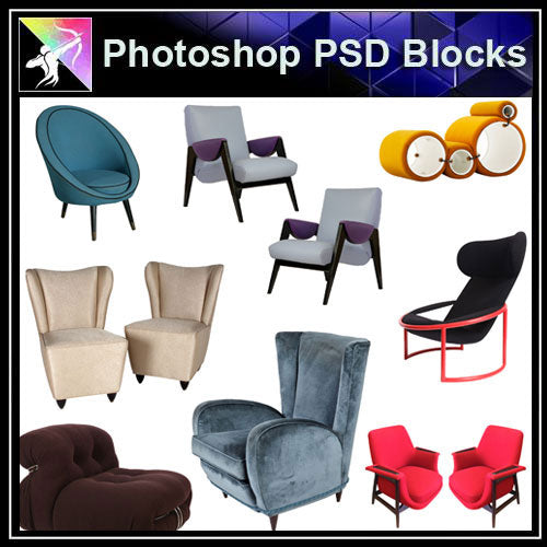 【Photoshop PSD Blocks】Sofa & Chair PSD Blocks V.1