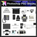【Photoshop PSD Blocks】Electric Appliance Blocks