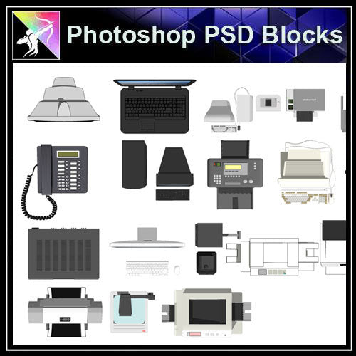 【Photoshop PSD Blocks】Electric Appliance Blocks - Architecture Autocad Blocks,CAD Details,CAD Drawings,3D Models,PSD,Vector,Sketchup Download