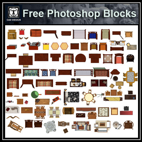 【Photoshop PSD Blocks】Chinese Furniture
