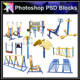 【Photoshop PSD Blocks】Facilities for children PSD Blocks 2 - Architecture Autocad Blocks,CAD Details,CAD Drawings,3D Models,PSD,Vector,Sketchup Download