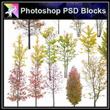 ★Photoshop PSD Landscape Blocks-Trees & Bushes Blocks V.2 - Architecture Autocad Blocks,CAD Details,CAD Drawings,3D Models,PSD,Vector,Sketchup Download