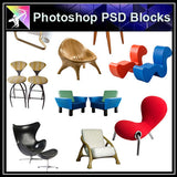 【Photoshop PSD Blocks】Sofa & Chair PSD Blocks V.2 - Architecture Autocad Blocks,CAD Details,CAD Drawings,3D Models,PSD,Vector,Sketchup Download