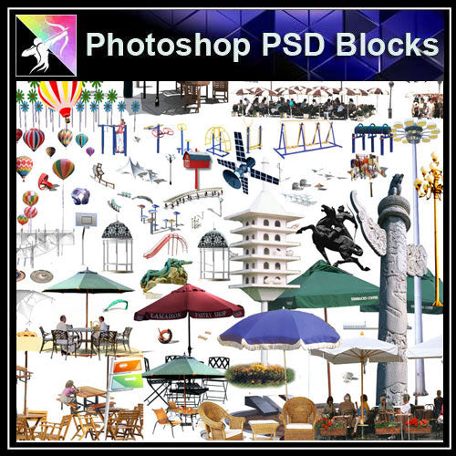 【Photoshop PSD Blocks】Landscape PSD Blocks  2 - Architecture Autocad Blocks,CAD Details,CAD Drawings,3D Models,PSD,Vector,Sketchup Download