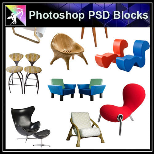 【Photoshop PSD Blocks】Sofa & Chair PSD Blocks V.2