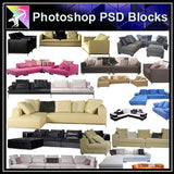 【Photoshop PSD Blocks】Sofa & Chair PSD Blocks V.3 - Architecture Autocad Blocks,CAD Details,CAD Drawings,3D Models,PSD,Vector,Sketchup Download