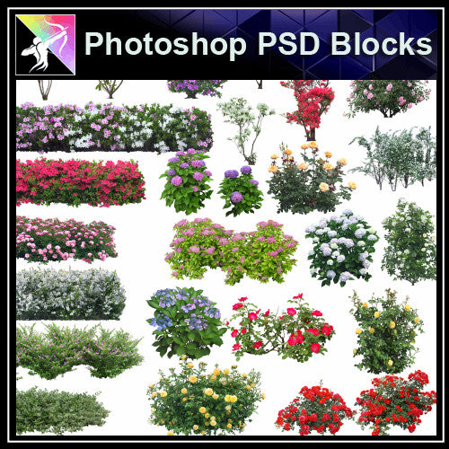 ★Photoshop PSD Landscape Blocks-Trees & Bushes Blocks V.3