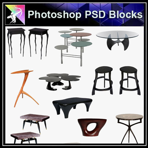 【Photoshop PSD Blocks】Sofa & Chair PSD Blocks V.4